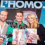 NLD/Amsterdam/20170508 - Lancering L'HOMO, bladpresentatie door  Douwe Bob en Linda de Mol