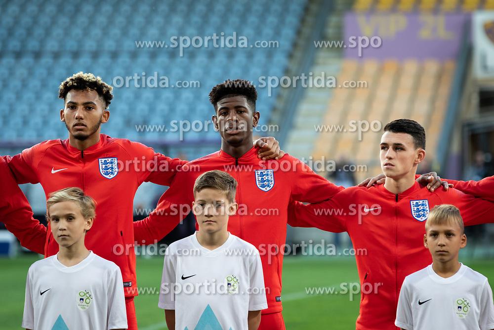 Lloyd Kelly of England, e3+ and Phil Folden of England  before friendly Football match between U21 national teams of Slovenia and England, on October 11, 2019 in Ljudski Vrt, Maribor, Slovenia. Photo by Blaž Weindorfer / Sportida