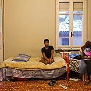 Becky, 17 years old with Osas Omorigee, 21 year old and victims of sex trafficking in their apartment in Asti, Italy