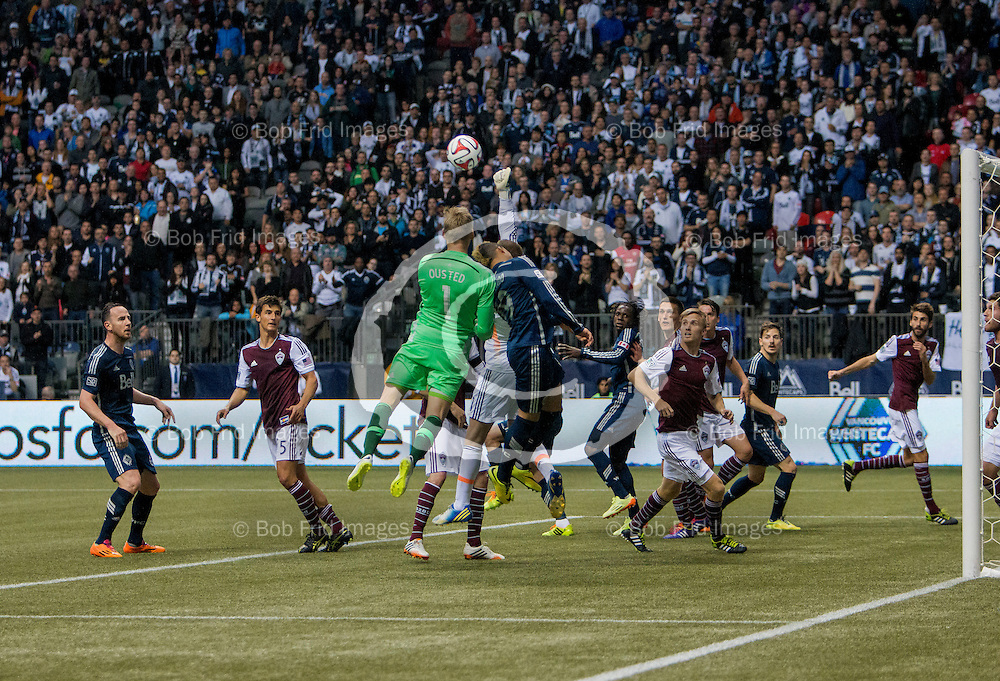 05 April 2014:   Action during a game between Vancouver Whitecaps FC and Colorado Rapids on Bell Pitch at BC Place Stadium in Vancouver, BC, Canada. ****(Photo by Bob Frid - Vancouver Whitecaps 2014 - All Rights Reserved)***