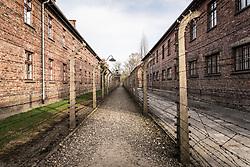 THEMENBILD - Das Stammlager Auschwitz I gehörte neben dem Vernichtungslager KZ Auschwitz II–Birkenau und dem KZ Auschwitz III–Monowitz zum Lagerkomplex Auschwitz und war eines der größten deutschen Konzentrationslager. Es befand sich zwischen Mai 1940 und Januar 1945 nach der Besetzung Polens im annektierten polnischen Gebiet des nun deutsch benannten Landkreises Bielitz am südwestlichen Rand der ebenfalls umbenannten Kleinstadt Auschwitz (polnisch Oświęcim). Teile des Lagers sind heute staatliches polnisches Museum bzw. Gedenkstätte. Im Bild Zäune des Lagers, aufgenommen am 11.04.2018, Oswiecim, Polen // Auschwitz concentration camp was a network of concentration and extermination camps built and operated by Nazi Germany in occupied Poland during World War II. It consisted of Auschwitz I (the original concentration camp), Auschwitz II–Birkenau (a combination concentration/extermination camp), Auschwitz III–Monowitz (a labor camp to staff an IG Farben factory), and 45 satellite camps. Concentration camp Auschwitz I, Oswiecim, Poland on 2018/04/11. EXPA Pictures © 2018, PhotoCredit: EXPA/ Florian Schroetter