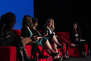 Allison Yarrow, Author and Journalist, Stacey Wilson Hunt, Hollywood Editor, Vulture, Jennifer Jolly, Journalist, and Madeline Di Nonno, CEO, The Geena Davis Institute