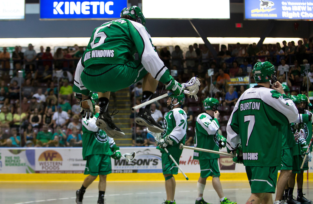 The Victoria Shamrocks beat the Peterborough Lakers 12-6 in game six wining the Mann Cup Lacrosse Championship four games to two on September 11th, 2015 at the Q centre in Colwood B.C. Canada.