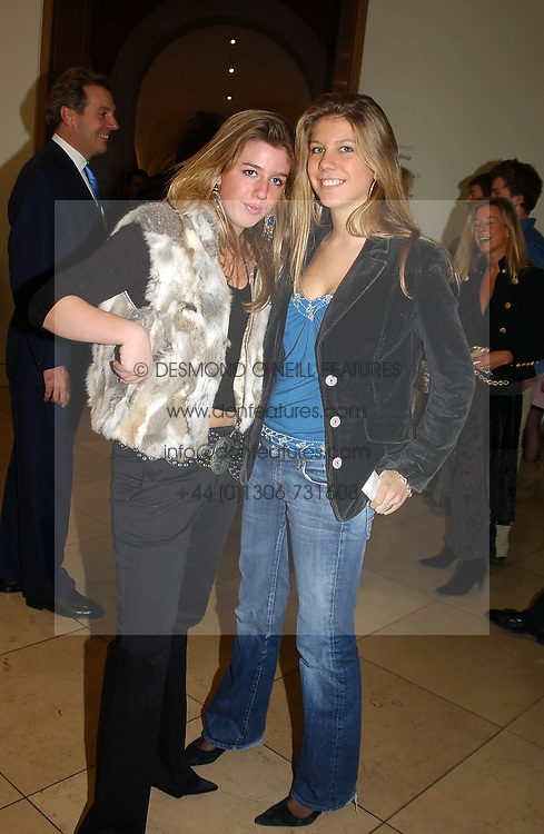 Left to right, MISS TATIANA DENEHY and MISS ISABELLA WORSLEY at the Depal Trust 2in1 Art Party at The National Portrait Gallery, London on 25th October 2004.<br />