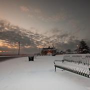 Today's snow filled Winter Sunrise  at Narragansett Town Beach, Narragansett, RI,  January  22, 2013. Photo: Tripp Burman
