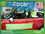 Zipcar booth -  Pride Parade June 27, 2010 NYC
