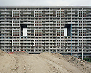 Démolition à Cité des 4000. La Courneuve (93)