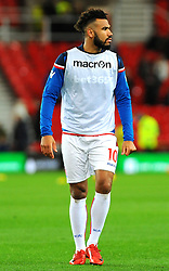 Eric Maxim Choupo-Moting of Stoke City warms up- Mandatory by-line: Nizaam Jones/JMP - 31/01/2018 - FOOTBALL - Bet365 Stadium - Stoke-on-Trent, England - Stoke City v Watford - Premier League