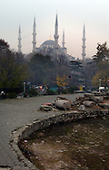 ISTANBUL, TURKEY - NOVEMBER 24, 2003: The Blue Mosque.