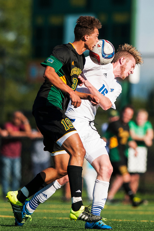 The men's soccer game between UNC-Ashville and Vermont at Virture Field on Friday afternoon September 11, 2015 in Burlington, Vermont.