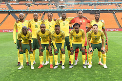 South Africa: Johannesburg: South africamn national soccer team poses for photographs during the Africa Cup Of Nations qualifiers against Seychelles at FNB stadium, Gauteng.<br /> Picture: Itumeleng English/African News Agency (ANA)