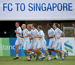 SINGAPORE, SINGAPORE - Sunday, July 17, 2011: Liverpool's players during an exhibition training session at the Bishan Stadium in Singapore on day seven of the club's preseason Asia Tour. (Photo by David Rawcliffe/Propaganda)