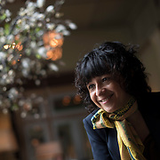 May 17, 2016 - New York, NY : French researcher in Microbiology, Genetics, and Biochemistry, Emmanuelle Charpentier, is photographed during an interview at the Soho Grand® Hotel in Manhattan on Tuesday morning. Charpentier, who is known for her role in discovering the CRISPR-Cas9 gene-editing technique, was in town to receive a Doctor of Science degree, honoris causa, from New York University. CREDIT: Karsten Moran for The New York Times