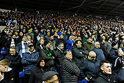 Leeds United fans during the EFL Sky Bet Championship match between Reading and Leeds United at the Madejski Stadium, Reading, England on 12 March 2019.