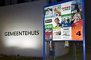 Nederland, the Netherlands, gemeente Berg en Dal, 8-3-2018 Vierkiezingsborden voor de gemeenteraadsverkiezingen die 21 maart gehouden worden . Op die dag kan ook een stem uitgebracht worden voor het waarschijnlijk laatste referendum over de sleepwet, de wet op de inlichtingen en veiligheidsdiensten, zoals de AIVD . In dit dorp doen veel lokale partijen mee. Foto: Flip Franssen