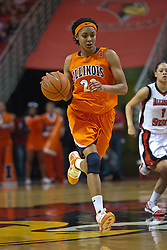 28 March 2010: Lacey Simpson. The Redbirds of Illinois State squeak past the Illini of Illinois 53-51 in the 4th round of the 2010 Women's National Invitational Tournament (WNIT) on Doug Collins Court inside Redbird Arena at Normal Illinois.