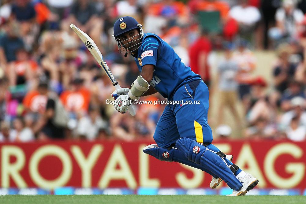 Mahela Jayawardene of Sri Lanka batting during the first ODI between the Black Caps v Sri Lanka at Hagley Oval, Christchurch. 11 January 2015 Photo: Joseph Johnson / www.photosport.co.nz