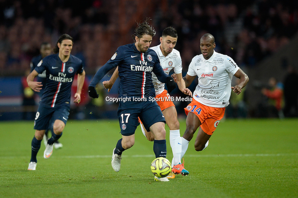 MAXWELL - 20.12.2014 - Paris Saint Germain / Montpellier - 17eme journee de Ligue 1 -<br />