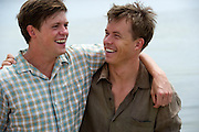 Hugo Johnstone-Burt as Fish Lamb & Todd Lasance as Quick Lamb - Scene 3/473 Photograph by David Dare Parker