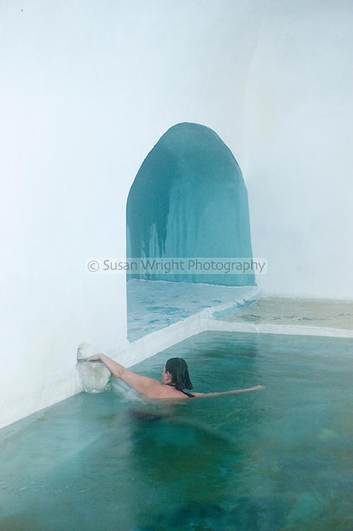 Therma Spa, Gera Bay hot springs, Lesbos, Greece