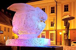 Ice Euro Rabbit Monument  in Town Hall Square, Tartu, Estonia