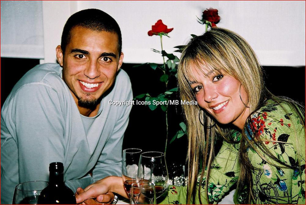 """David TREZEGUET et sa femme Beatrice - 14.02.2006 - Restaurant """"Le Pacif"""" a Monaco pour la Saint Valentin - Photo : Jc Vinaj / Icon Sport"""
