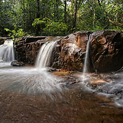The Huai Nam Yen waterfall in the Huai Nam Yen Forest at Pang Sida National Park in Thailand. The park is part of the Dong Phaya Yen ? Khao Yai Forest Complex, a UNESCO World Heritage site.