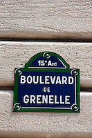 boulevard de grenelle in Paris France in Spring time of May 2008