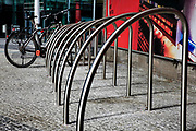 Bicycle parking and locking stand. Berlin, Germany