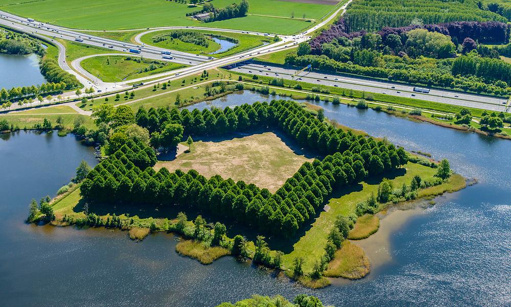 Nederland, Noord-Brabant, Den Bosch, 13-05-2019; Pettelaarse Schans (Fort Saint Michèl), voormalige fort, gelegen in de Zuidplas.<br /> Pettelaarse Schans (Fort Saint Michèl), former fort<br /> <br /> aerial photo (additional fee required); luchtfoto (toeslag op standard tarieven); copyright foto/photo Siebe Swart