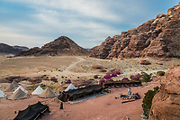 Wadi Musa, Jordan - May 9, 2013: bedouin camp resort near Petra Jordan