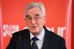 © Licensed to London News Pictures. 11/03/2016. London, UK. Shadow chancellor JOHN MCDONNELL gives a speech on the economy and the public finances at The RSA in London on Friday, 11 March 2015. Photo credit: Tolga Akmen/LNP