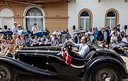 Como, Italy, Concorso d'Eleganza Villa D'Este, Triumph Dolomite 8 , entrant Jonathan Turner