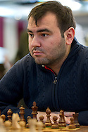 Shakhriyar Mamedyarov (Szachrijar Mamedjarow) from Azerbaijan during European Team Chess Championships 2013 at Novotel Hotel in Warsaw on November 12, 2013.<br /> <br /> Poland, Warsaw, November 12, 2013<br /> <br /> Picture also available in RAW (NEF) or TIFF format on special request.<br /> <br /> For editorial use only. Any commercial or promotional use requires permission.<br /> <br /> Mandatory credit:<br /> Photo by © Adam Nurkiewicz / Mediasport