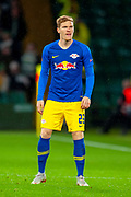 Marcel Halstenberg (#23) of RB Leipzig during the Europa League group stage match between Celtic and RP Leipzig at Celtic Park, Glasgow, Scotland on 8 November 2018.