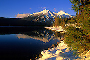 Lake McDonald in early winter. Glacier National Park, Montana.