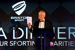 Owner Steve Lansdown welcomes guests as Bristol Sport hosts their annual Gala Dinner at Ashton Gate Stadium - Rogan/JMP - 05/12/2018 - SPORT - Ashton Gate Stadium - Bristol, England - Bristol Sport Gala Dinner 2018.