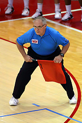 07 October 2017:  John Thompson during a college women's volleyball match between the Crusaders of Valparaiso and the Illinois State Redbirds at Redbird Arena in Normal IL (Photo by Alan Look)
