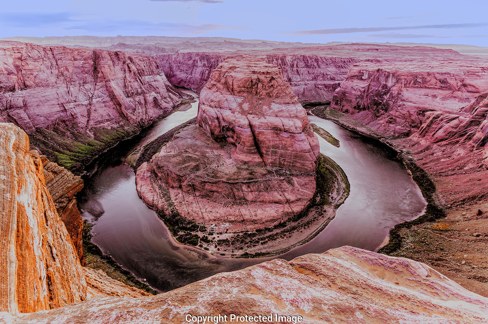 Horseshoe, Bend, Sunset, Colorado, Plateau, River, Arizona