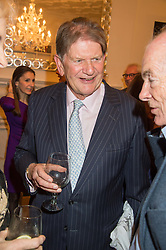 SIR JOHN MADEJSKI at a reception to celebrate the publication of Quicksilver by HRH Princess Michael of Kent held at the home of Richard & Basia Briggs, 35 Sloane Gardens, London on 9th November 2015.