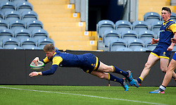 Noah Heward (Solihull School) of Worcester Warriors Under 18s scored a try - Mandatory by-line: Robbie Stephenson/JMP - 14/01/2018 - RUGBY - Sixways Stadium - Worcester, England - Worcester Warriors Under 18s v Yorkshire Carnegie Under 18s - Premiership Rugby U18 Academy