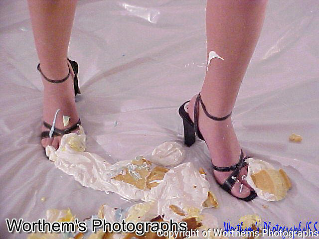 What better to show off pretty toes, get them covered in whipped cream.