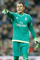 20.03.2016, Estadio Santiago Bernabeu, Madrid, ESP, Primera Division, Real Madrid vs Sevilla FC, 30. Runde, im Bild Real Madrid's Keylor Navas // during the Spanish Primera Division 30th round match between Real Madrid and Sevilla FC at the Estadio Santiago Bernabeu in Madrid, Spain on 2016/03/20. EXPA Pictures © 2016, PhotoCredit: EXPA/ Alterphotos/ Acero<br /> <br /> *****ATTENTION - OUT of ESP, SUI*****