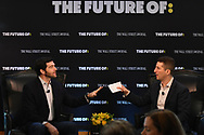 The Wall Street Journal The Future of :The Workplace interview featuring Jeff Weiner, CEO of LinkedIn, with Dennis Berman, Financial Editor at the Wall Street Journal, in New York City on June 22, 2017. (photo by Gabe Palacio)