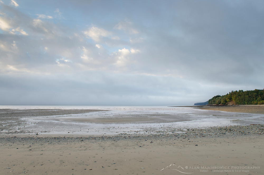 Bay of Fundy low tide, seen from beach at Alma New Brunswick