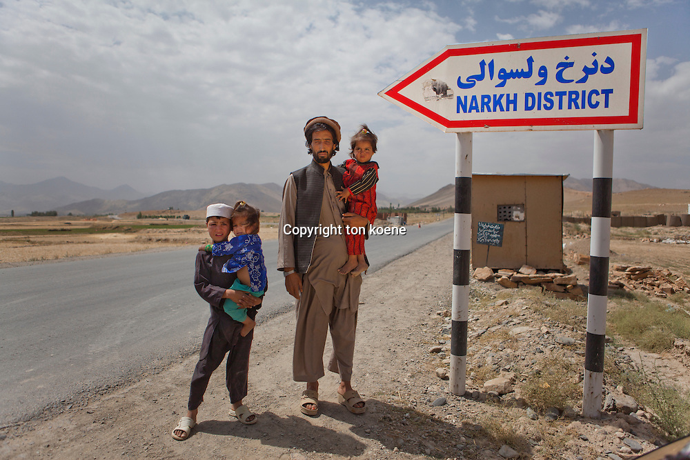 Afghan family has fled Narkh district to maidan (capital of Wardak province) due to fighting between taliban and Hesb-i-islami.