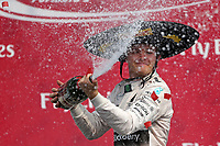 ROSBERG nico (ger) mercedes gp mgp w06 ambiance portrait vainqueur winner arrivee finish line podium during the 2015 Formula One World Championship, Mexico Grand Prix from october 29nd to November 1st 2015 in Mexico, Mex. Photo DPPI