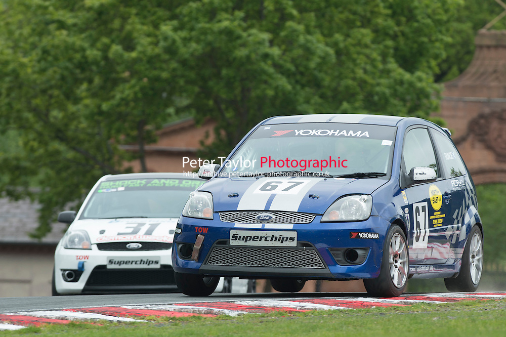 #67 George Runcie, Ford Fiesta S during BRSCC XR Challenge and Scottish Fiesta Championship as part of the BRSCC Club Car Championships at Oulton Park, Little Budworth, Cheshire, . May 23 2015. World Copyright Peter Taylor/PSP. Copy of publication required for printed pictures.  Every used picture is fee-liable. http://archive.petertaylor-photographic.co.uk