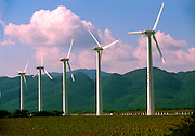MEXICO, OAXACA STATE Wind generators located in the isthmus of Tehuantepec near Juchitan in the State of Oaxaca