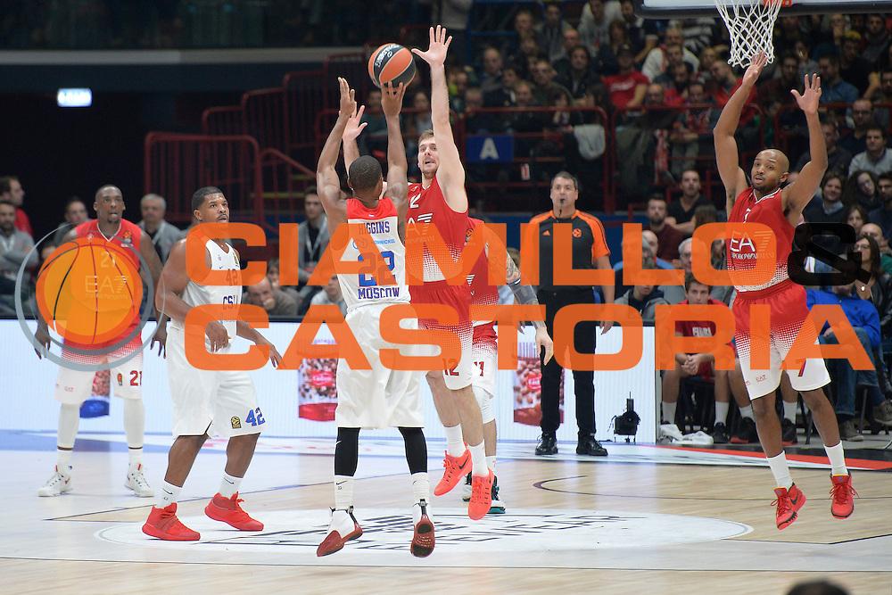 Higgins Cory<br /> Olimpia EA7 Emporio Armani Milano vs Cska Moscow<br /> Euroleague 2016/2017<br /> Milano 08/12/2016<br /> Foto Ciamillo-Castoria